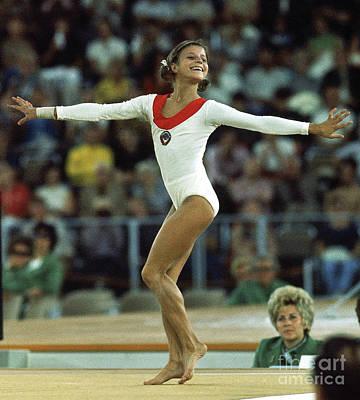 Olga Korbut, 1972 Olympic Games Art Print
