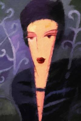 Painting - Olga by Lutz Baar