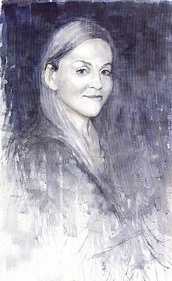 On Paper Painting - Olga by Yuriy  Shevchuk