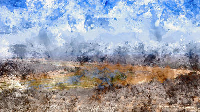 Digital Art - Olifants River by Petrus Bester
