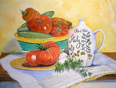 Painting - Olio D' Oliva by Anna Jacke