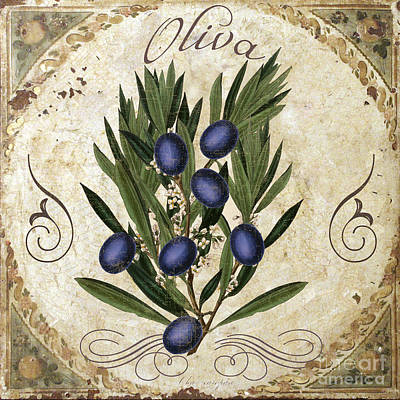 Italian Kitchen Painting - Oliva Black Olives by Mindy Sommers