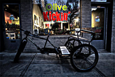 Digital Art - Olive And Kickin by John Haldane