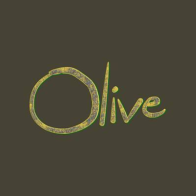 Drawing - Olive by Bill Owen