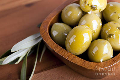 Greek Photograph - Olive Bowl by Jane Rix