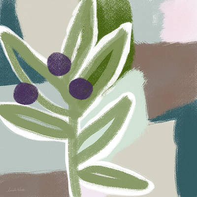 Garden Mixed Media - Olive Branch 1- Art By Linda Woods by Linda Woods