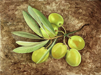 Olives Wall Art - Painting - Olive by Guido Borelli