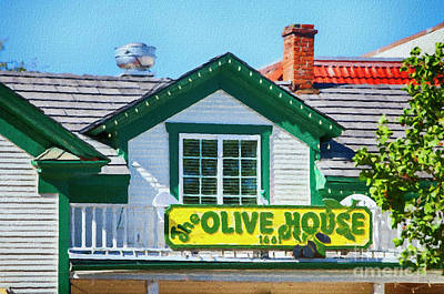 Mixed Media - Olive House by David Millenheft