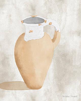 Olive Jar Art Print by Christina Steward