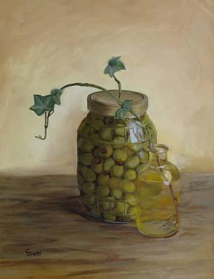 Painting - Olive Jar by Grace Diehl