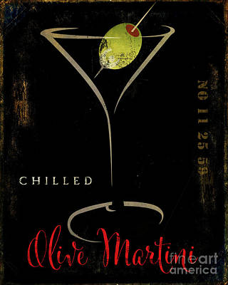 Martini Royalty-Free and Rights-Managed Images - Olive Martini by Mindy Sommers