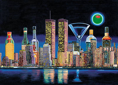 New York Skyline Painting - Olive Ny by Tim Williams