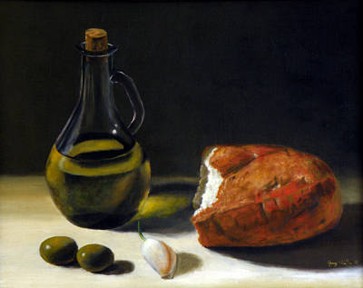 Painting - Olive Oil And Bread by George Tuffy