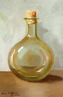 Olive Oil Bottle Still Life  Art Print by Joni Dipirro