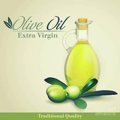 Olive Oil Kitchen Art Print