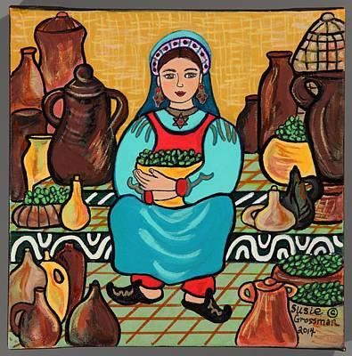Olive Oil Vendor Original by Susie Grossman