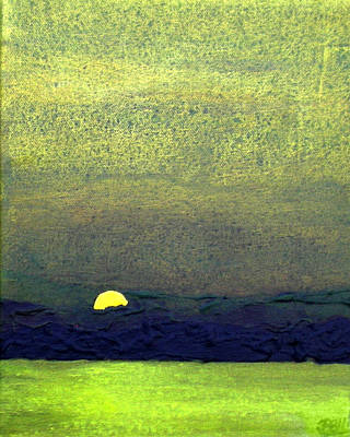 Olive Sky - Middle Art Print by Bill Brown