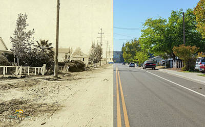 Photograph - Olive Street And Finn Hall Then And Now by Jim Thompson