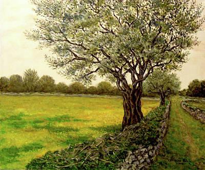 Olive Tree Painting - Olive Tree by Kristina Valic