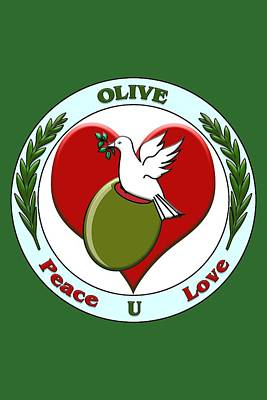 Digital Art - Olive U by John Haldane