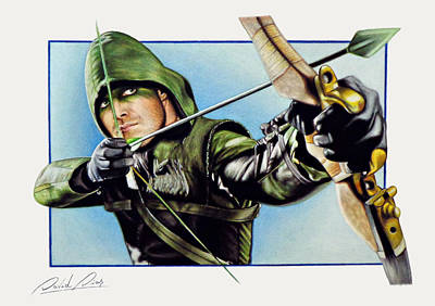 Dc Comics Drawing - Oliver Queen - Green Arrow by David Dias