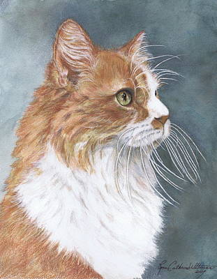 Watercolor Pet Portraits Mixed Media - Oliver by Renee Catherine Wittmann