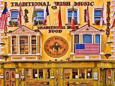Temple Bar Digital Art - Oliver St. John Gogarty by Mitch Spence