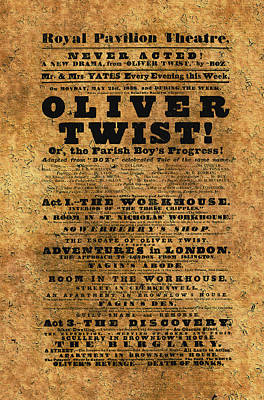Photograph - Oliver Twist 1838 by Andrew Fare