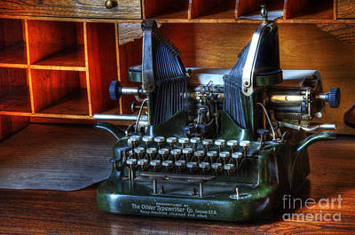 Typewriter Photograph - Oliver Typewriter by Bob Christopher