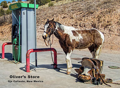 Photograph - Oliver's Store Pony At The Pump by Britt Runyon