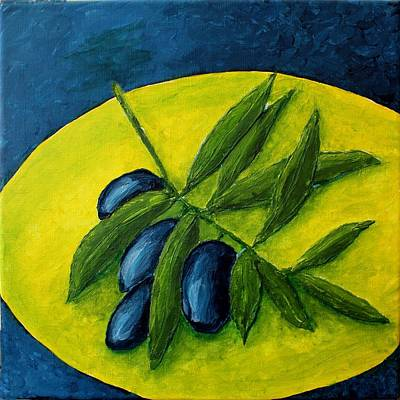 Still Live Painting - Olives by Andrea Meyer