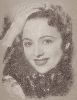 Celebrities Royalty-Free and Rights-Managed Images - Olivia De Haviland by Esoterica Art Agency