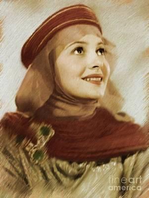 Musicians Royalty Free Images - Olivia De Haviland, Vintage Actress Royalty-Free Image by Mary Bassett