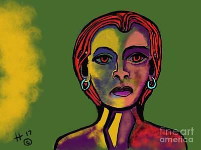 Digital Art - Olivia by Hans Magden