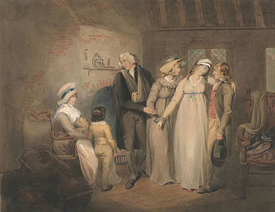 Drawing - Olivia Returns To Her Family by Francis Wheatley