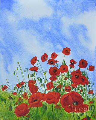 Painting - Olivia's Poppies by Sandra Phryce-Jones