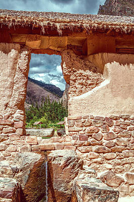 Photograph - Ollantaytambo House by Maria Coulson