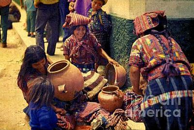 Olla Photograph - Ollas - Guatemala 1976 by Miriam Danar