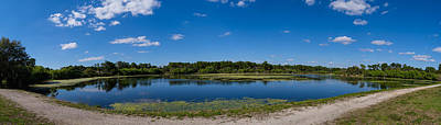 Ollies Pond In Port Charlotte, Florida Art Print by Panoramic Images