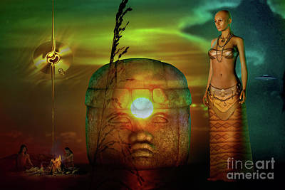Digital Art - Olmec  Mystique by Shadowlea Is
