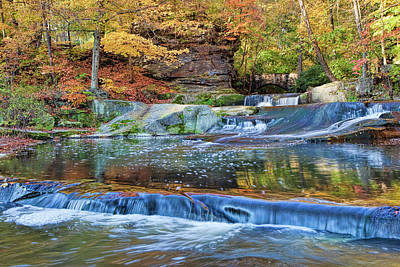Amish Photograph - Olmsted Waterfalls by Marcia Colelli