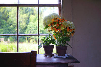 Photograph - Olson House Flowers On Table by Paul Gaj