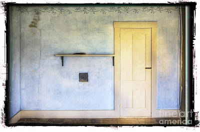 Olson White Door Art Print by Craig J Satterlee