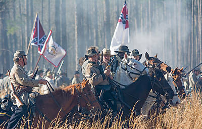 Olustee Confederate Charge Art Print