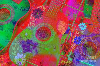 Photograph - Olvera Street Guitars by Jenny Revitz Soper