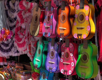 Abstract Male Faces - Olvera Street Ukeleles by Richard Hinds