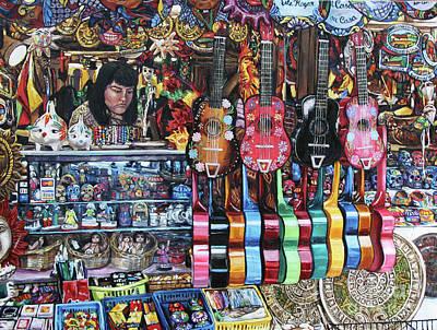 Painting - Olvera Street Vendor by Christopher Buoscio