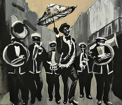 Painting - Olympia Brass Band Serious by Kerin Beard