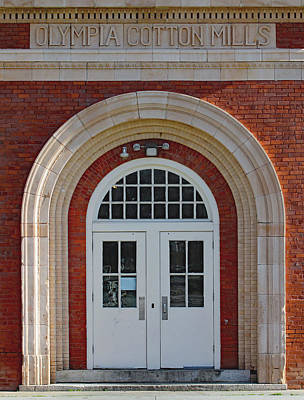 Photograph - Olympia Cotton Mills Entrance by Joseph C Hinson Photography