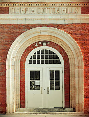 Photograph - Olympia Cotton Mills Entrance Vintage 1 by Joseph C Hinson Photography